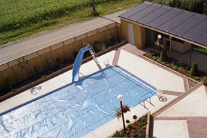 Solar Power is a great way to heat your pool at a fraction of the cost of conventional heating.